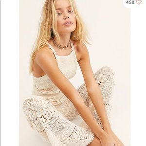 Free People Moon Bay Crochet Jumpsuit One-piece XS